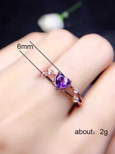 Copper With Rose Gold Plated Cute Heart Cubic Zirconia Engagement Rings