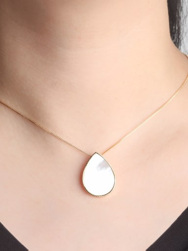 Copper With Shell Classic Water Drop 2 Piece Jewelry Set
