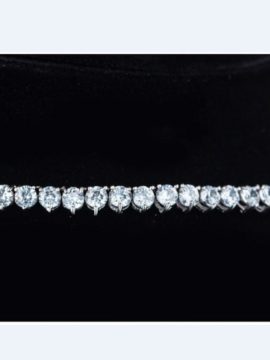 White Gold Plated Zircon Necklet