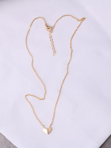 Titanium With Gold Plated Simplistic Irregular Necklaces