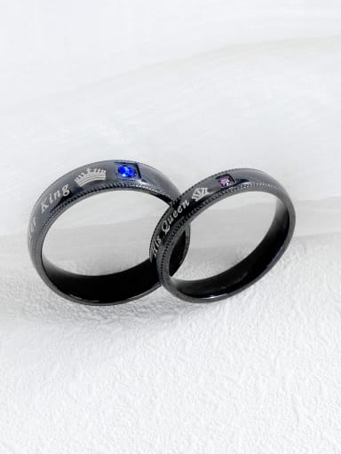 Stainless Steel With Gun Plated Personality Men Rings