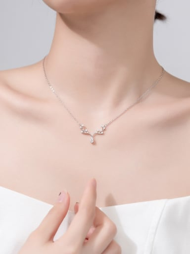 925 Sterling Silver With Platinum Plated Personality Water Drop Necklaces
