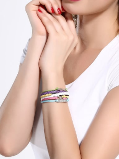 Multi-layers Artificial Leather Ropes Bracelet
