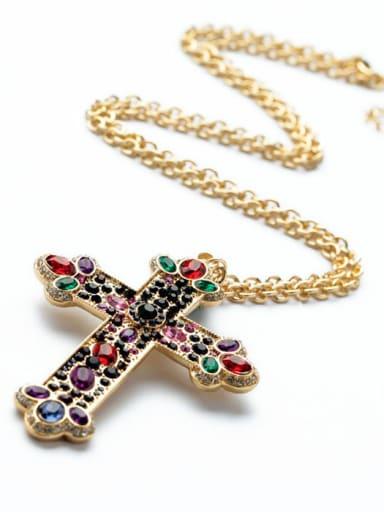 2018 Retro Cross Pendant Women Necklace