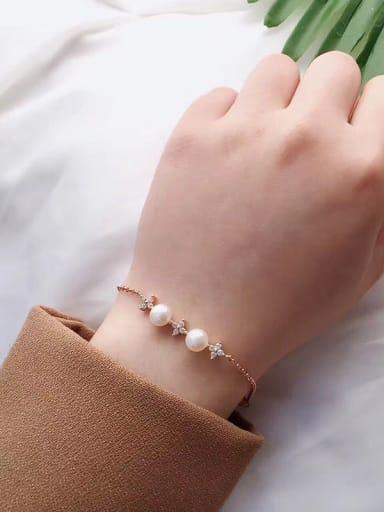 Freshwater Pearls Four-leaf Clovers Bracelet
