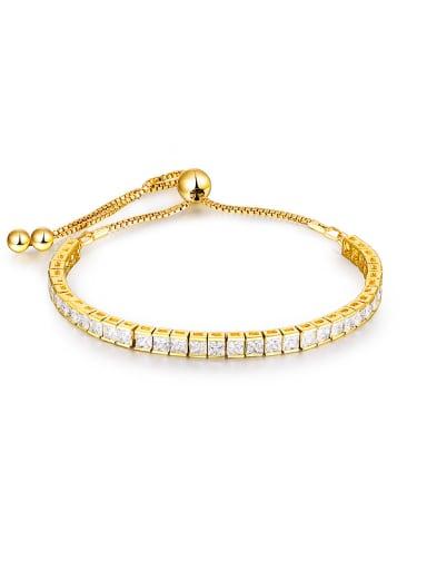 Geometric Zircon Bracelet