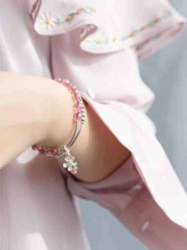 925 Sterling Silver With Silver Plated Fashion Charm Bracelets