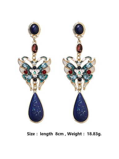 Alloy With Rose Gold Plated Vintage Irregular Drop Earrings