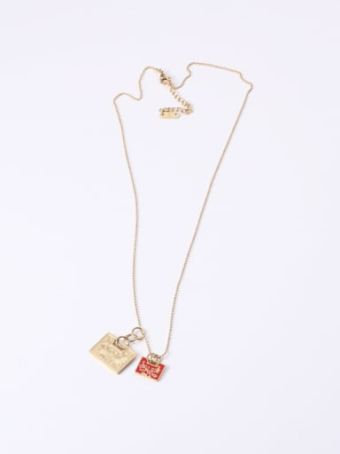 Titanium With Gold Plated Personality Geometric Necklaces