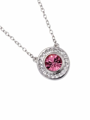 Round Shaped Crystal Necklace