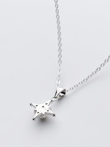 Temperament Star Shaped Artificial Pearl S925 Silver Necklace