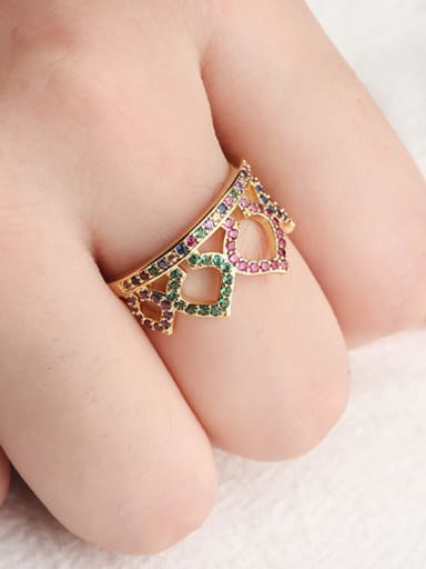 Copper With Cubic Zirconia Fashion Crown Rings