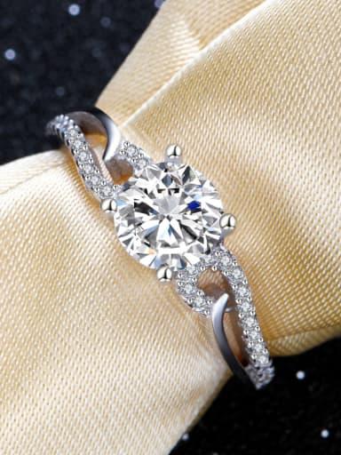 Lady's Zircon Angel Wings Shining Ring