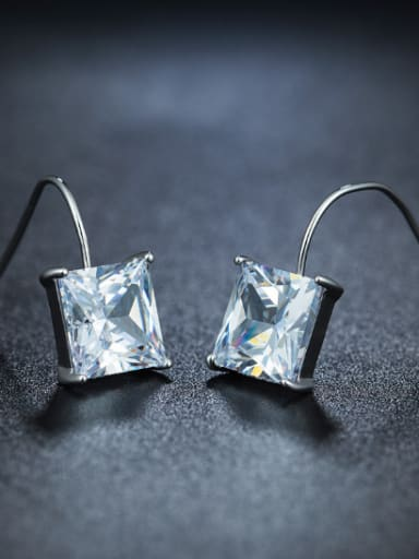 Fashion Square Zircon Stud Earrings