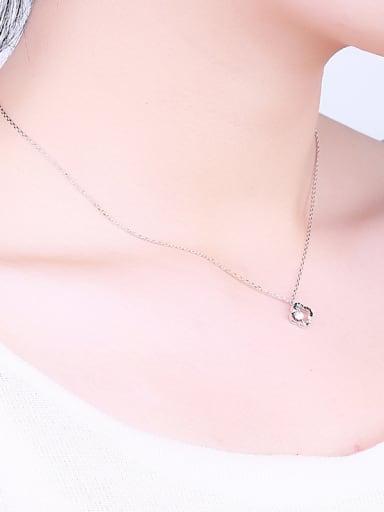 Elegant Clover Zircon Necklace