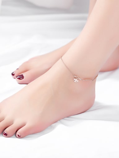 Stainless Steel With Rose Gold Plated Fashion Animal fox Anklets