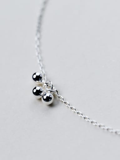 Fresh Adjustable Three Beads Design S925 Silver Foot Jewelry