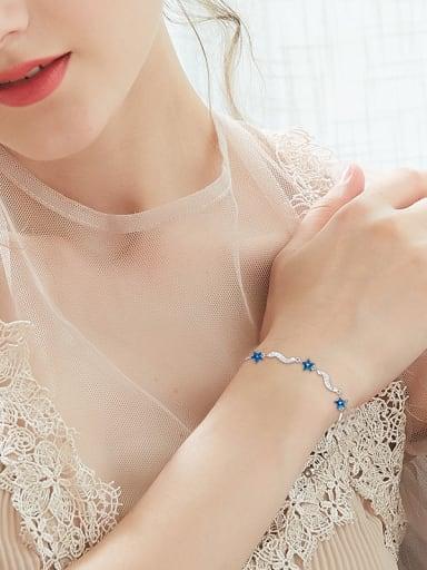 S925 Silver Blue Stars Bracelet