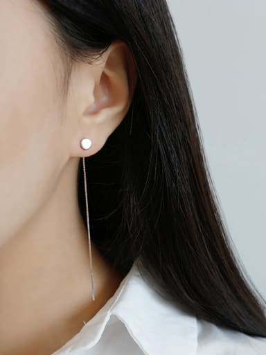 Sterling silver simple ear wire