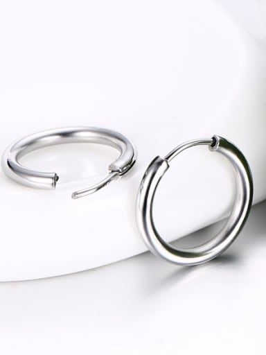 All-match High Polished Stainless Steel Drop Earrings