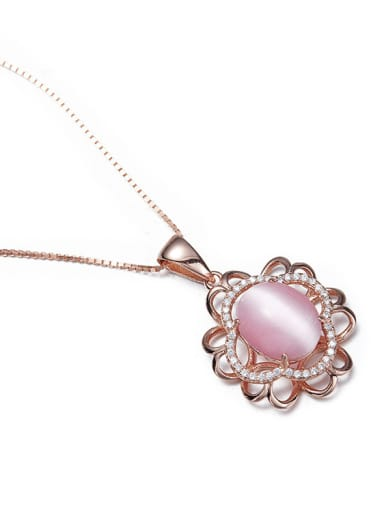 Pink Tigers Eyes Necklace