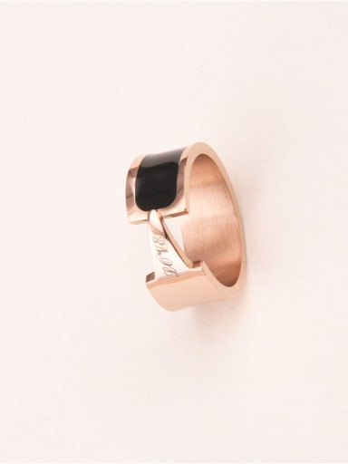 Black Glue Fashion Lover Ring