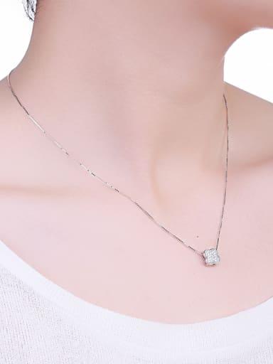 2018 Clover Zircon Necklace