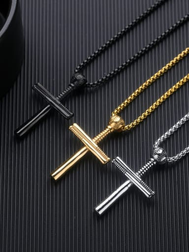 Stainless Steel With Gold Plated Personality cross Pendants