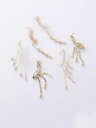 Alloy With Imitation Gold Plated Delicate Irregular Drop Earrings