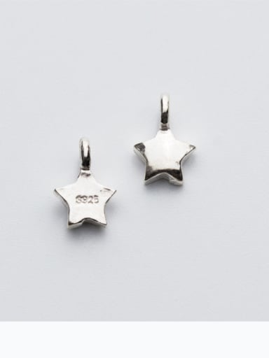 925 Sterling Silver With Silver Plated Classic Cross Charms
