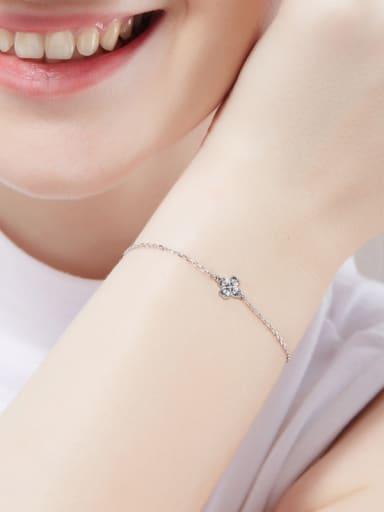 Clover-shaped S925 Silver Bracelet