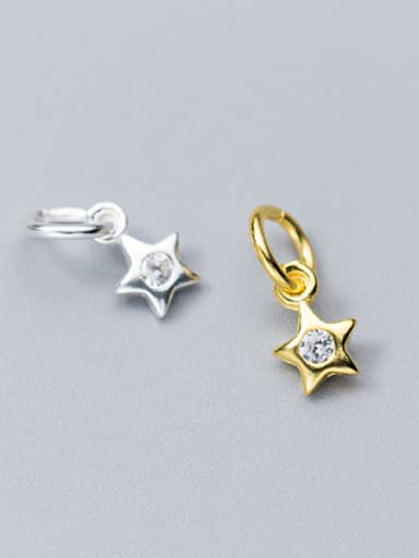 925 Sterling Silver With 18k Gold Plated Delicate Star Charms