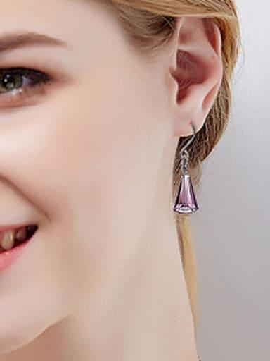 S925 Silver Crystal hook earring