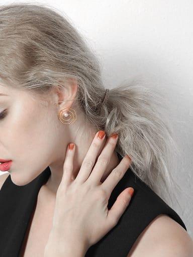 New minimalist vortex unique stainless steel earrings