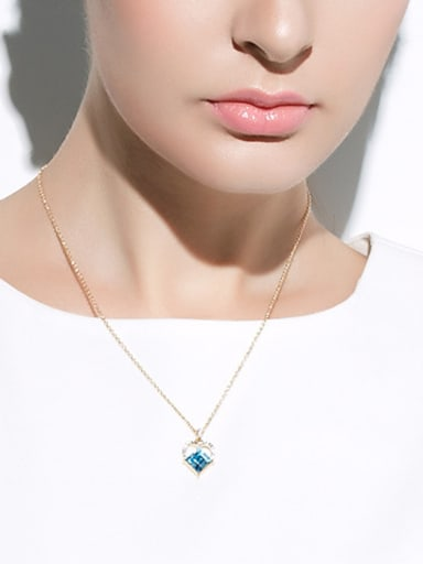 2018 2018 2018 2018 2018 Heart-shaped Crystal Necklace