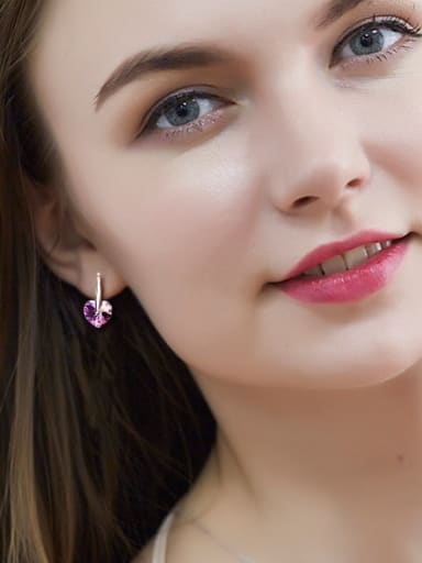 Swarovski Crystals Heart-shaped drop earring