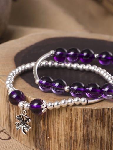 S925 Silver Temperament Amethyst Bracelet