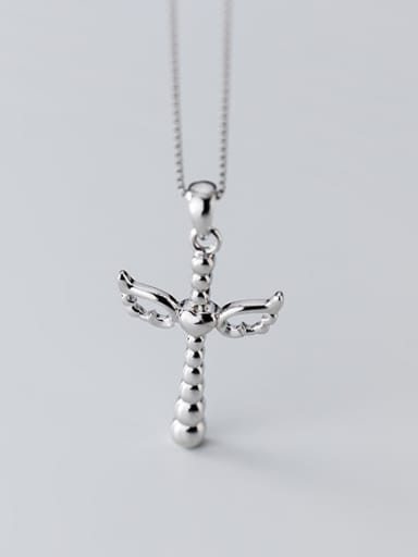925 Sterling Silver With Platinum Plated Personality Cross Pendants