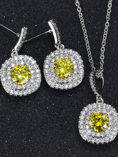 Color Crystal Fashion Jewelry Set