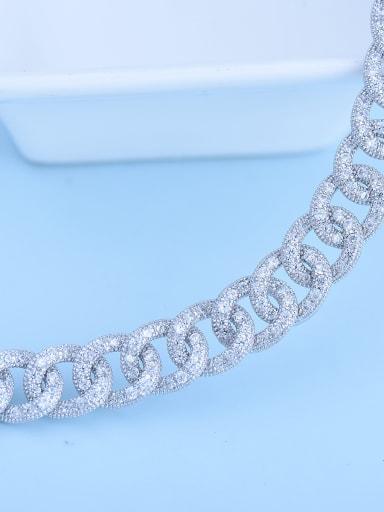 Copper inlaid AAA zircon bridal dinner luxury Necklace