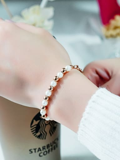 Stainless Steel With Rose Gold Plated With heart star Bracelets