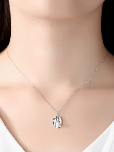 Pure Silver Natural Freshwater Pearl personality Necklace