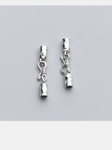 925 Sterling Silver With Silver Plated S buckle Snap Settings