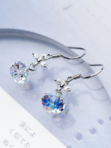Elegant Bowknot Shaped Multi-color Crystal Drop Earrings