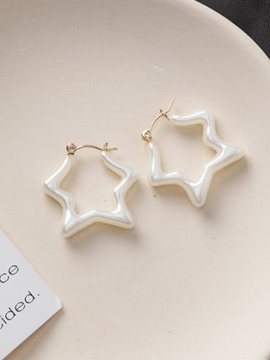Alloy With Gold Plated Simplistic Star Clip On Earrings