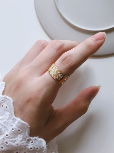 925 Sterling Silver With Gold Plated Fashion Round Midi Rings