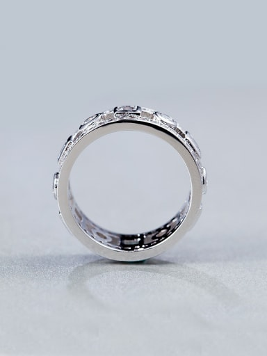 White Zircon band ring