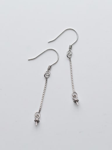 925 Sterling Silver With Silver Plated Box chain Earrings