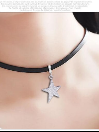 Stainless Steel With Fashion Star Necklaces