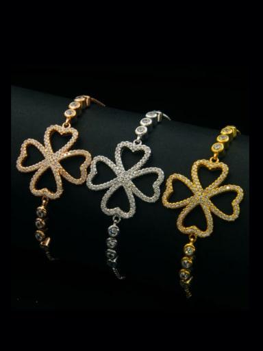 Hollow Clover Stretch Bracelet